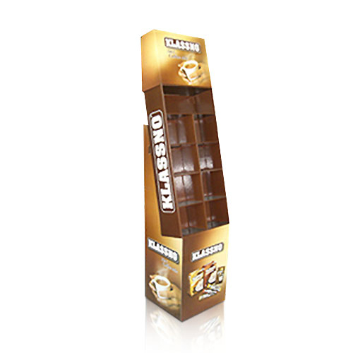 Stock Corrugated Cardboard Point of Purchase Display Stands