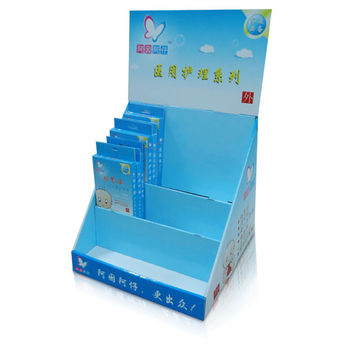 recycled corrugated cardboard countertop display stand factory