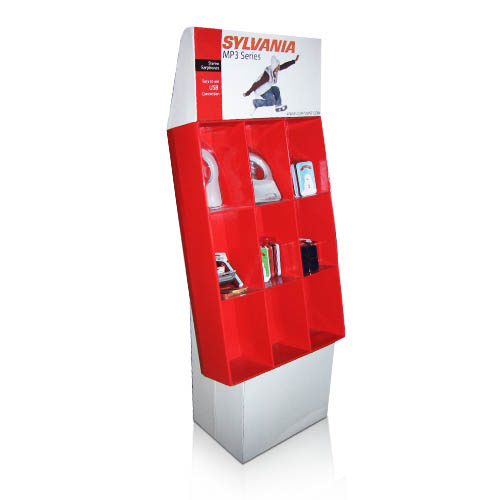 Promotional Cardboard Floor Standing Display Units Manufacturer