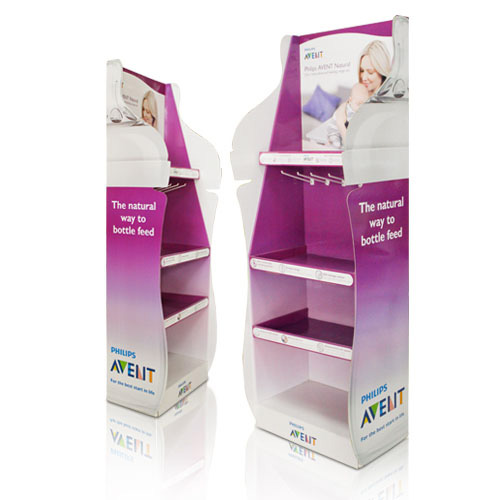 Promotional Cardboard Floor Display Shelves
