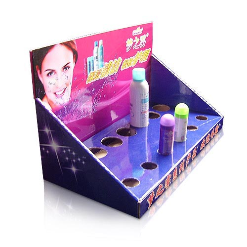 corrugated cardboard cosmetic counter displays