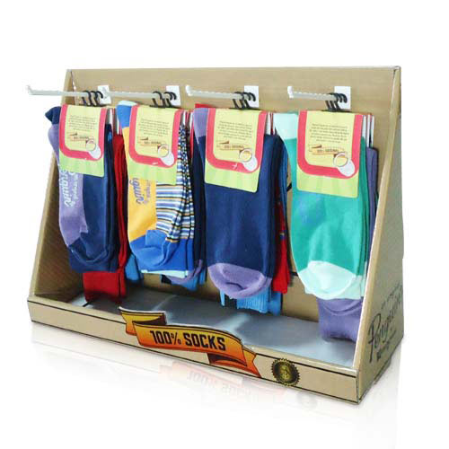 Point of Sale Corrugated Table Top Hook Display