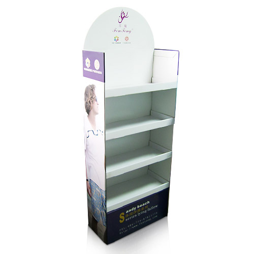 Merchandising Cardboard Point of Floor Display