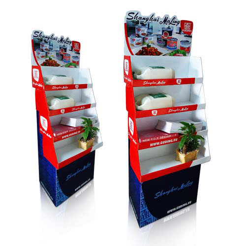 Retail Corrugated Floor Display Stand