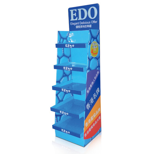 Free Standing Corrugated Cardboard Floor Display Stands