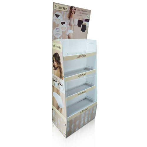Creative Retail Cardboard Floor Display Rack