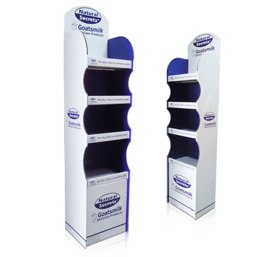 Point Of Sale Stock Cardboard Floor Displays