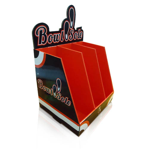 point of purchase corrugated cardboard counter display