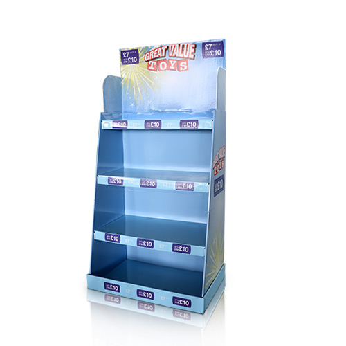Corrugated Cardboard Retail Display Counter Shelf