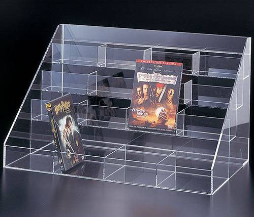 Acrylic DVD Display Rack