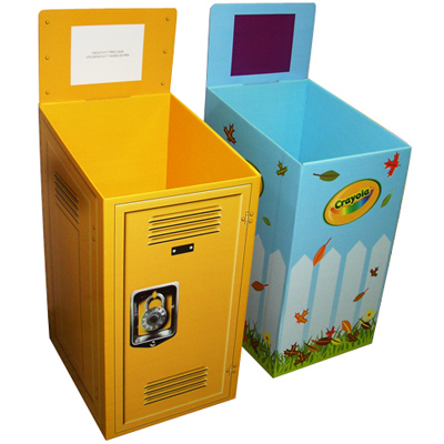 Renewable Materials Paper Retail Dump Bins Tables