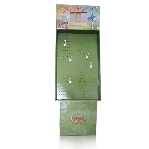 Instore Advertising Cardboard Pegboard Display Stands
