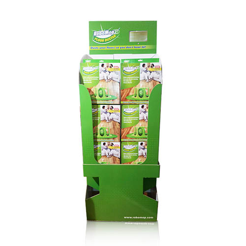 Grocery Store Cardboard Display Shelf Cartons