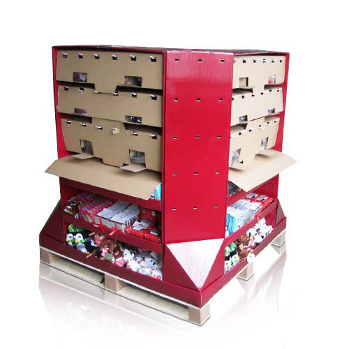 Corrugated Cardboard Pallet Display Point Sale