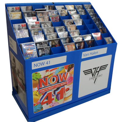 Cardboard Advertising Magazine Dump Bins Displaying Units