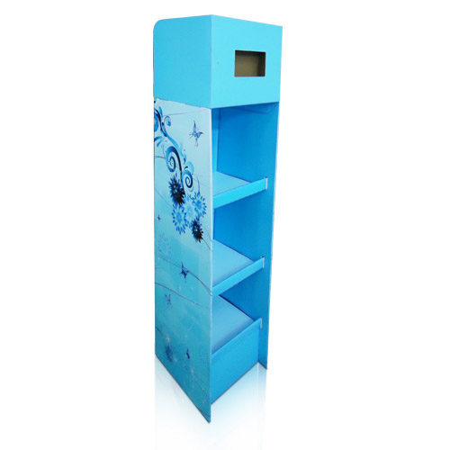 Portable Corrugated Cardboard DVD display Shelf China Factory