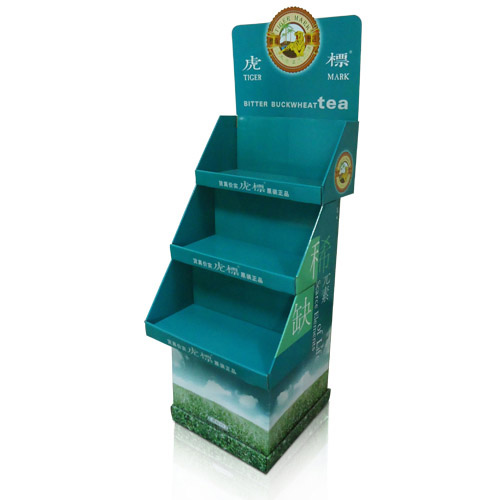Grocery Store Free Standing Display Units Cardboard Shelf