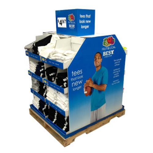 Stackable Corrugated Cardboard Pallet Shop Display