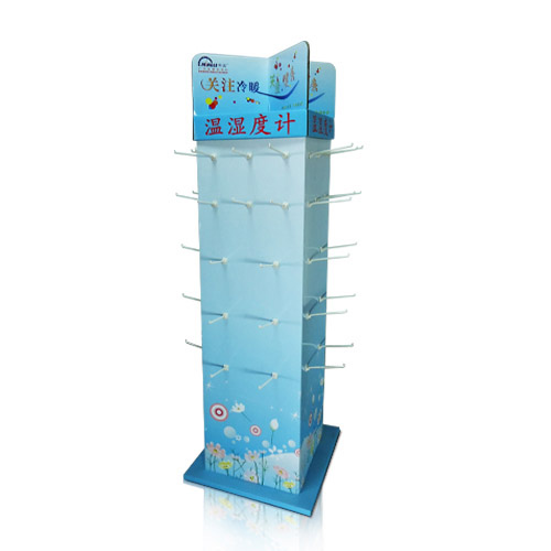 Rotation Advertising Sidekick Corrugated Cardboard Hook Displays