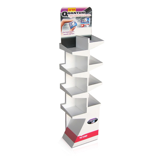 Custom Cardboard Magazine Holder Display Shelf