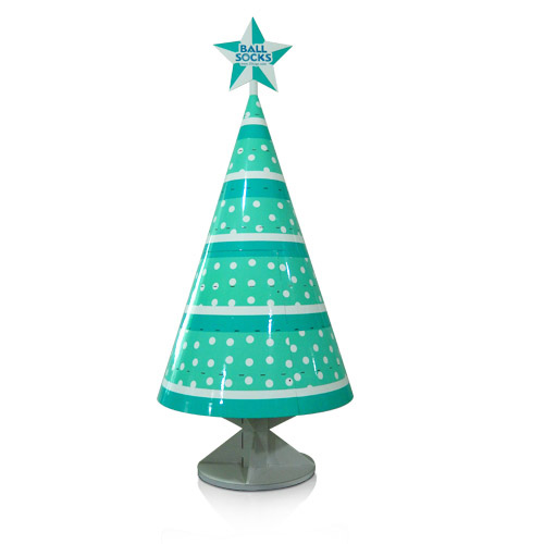 Christmas Tree Corrugated Cardboard Sidekick Display Shelf for Promotional Gifts Products