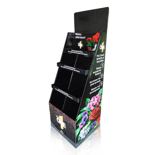 POP Cardboard Flowers Display Shelf China Supplier