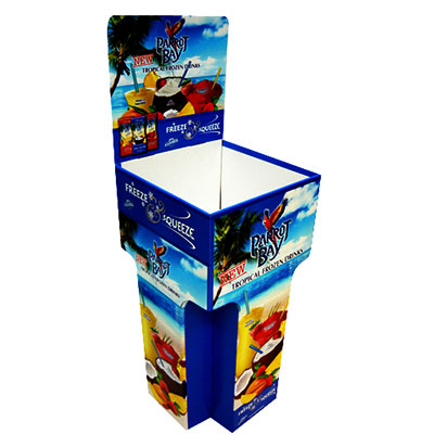 Point of Sale Corrugated Display Book Dump Bins for Retail