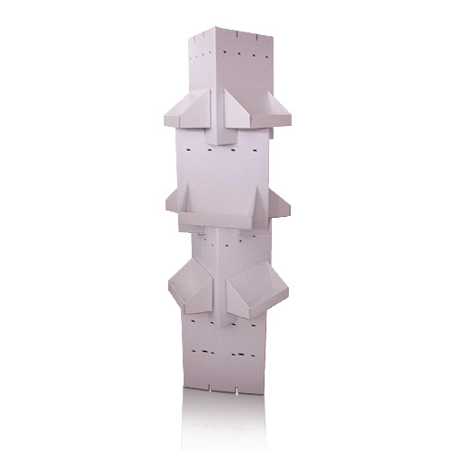 Rotating Supermarket Portable Cardboard Floor Display Shelf