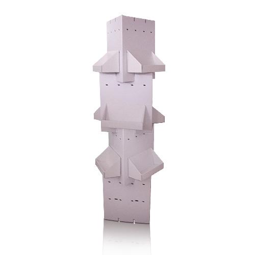 Rotating Supermarket Portable Cardboard Floor Display Shelf