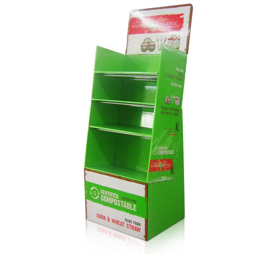 Portable Cardboard POS Display Shelf China Manufacturer