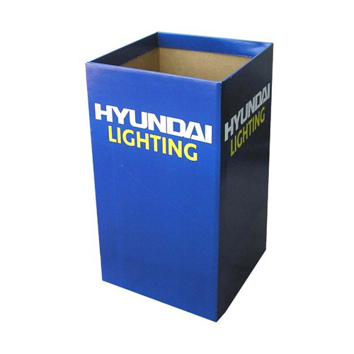 Square Promotional Dump Bins Display Shelf Factory